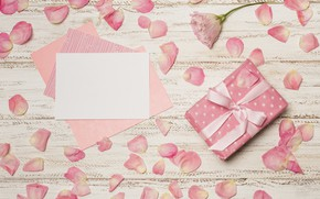 Picture gift, petals, the envelope, Mother's Day