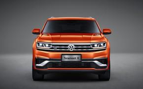 Picture Volkswagen, front view, crossover, Atlas, 2019, Teramont X