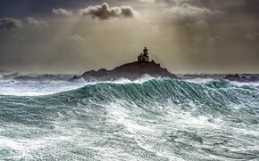 Picture sea, nature, lighthouse