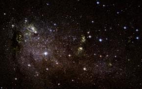 Picture Stars, Galaxy, Starburst galaxy, IC 10, Irregular galaxy, Gas clouds, Star formation regions, Constellation of …