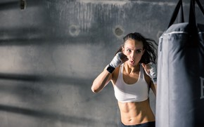 Picture boxing, female, training