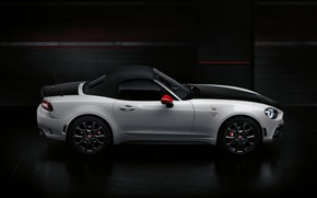 Picture Roadster, spider, black and white, double, Abarth, 2016, 124 Spider, the soft top