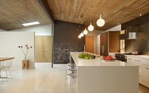 Picture design, style, interior, kitchen, dining room, by DeForest Architects, Lakewood Mid-Century