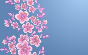 Picture flowers, background, texture, Vintage, Floral