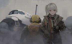 Picture girl, pilot, the plane, Girls Frontline, Girls front
