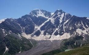 Picture summer, the sky, mountains, nature, glacier, seven, the Caucasus