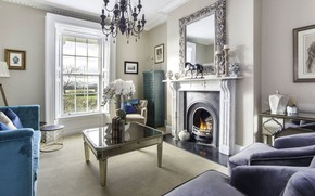 Picture interior, fireplace, living room, Clontarf Home