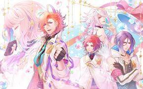 Picture background, anime, stars, guys, Binary Starарт