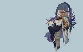 Picture music, fantasy, violin, art, guy, LY 炼 妖, Do not forget me