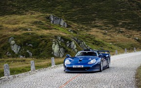 Picture Porsche, Lights, Porsche 911, 1997, Sports car, GT1, Porsche 911 GT1