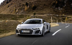 Picture Audi, speed, supercar, Audi R8, Coupe, V10, 2020, RWD