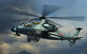 Picture China, China, CAIC WZ-10, attack helicopter, PLA, Chinese Z-10 Attack Helicopter
