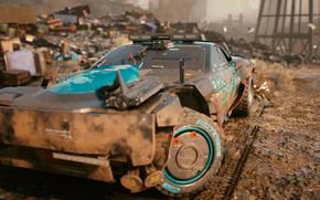 Picture Dirt, Dump, Car, SUV, Cyberpunk 2077, Heath