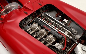 Picture Maserati, Engine, Classic, Classic car, 1955, Sports car, Inline six-cylinder engine, Maserati 300S