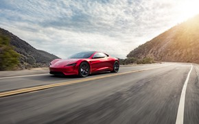 Picture Roadster, speed, Tesla, 2020