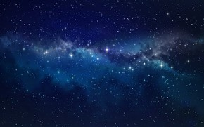 Picture space, stars, space
