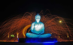 Picture India, Chandigarh, Garden Of Silence, Buddha statue