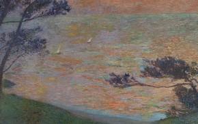 Picture landscape, picture, Henri-Jean Guillaume Martin, Henri Matrin, Sunset on the Sea