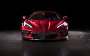 Picture Corvette, Chevrolet, The hood, Lights, Stingray, Sports car, Icon, 2020, Chevrolet Corvette ( C8 ) …