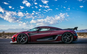 Picture machine, the sky, Koenigsegg, hypercar, rich color, Agera RS