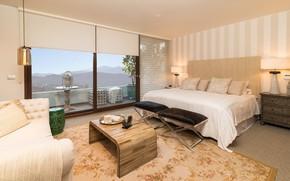 Picture bed, interior, window, bedroom