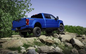Picture blue, Ford, side, pickup, Super Duty, F-250, Tremor, 2020, Off-Road Package, F-series