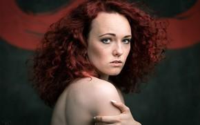 Picture girl, portrait, freckles, Ivan Potylitsyn, Ivan Dark, Ksenia Vodopyanova