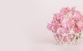Picture pink, bouquet, hydrangea, Morganval