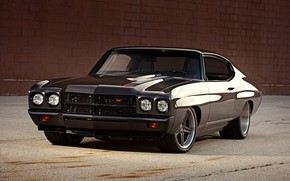 Picture Chevrolet, Muscle, Car, Chevy, Tuning, Chevelle, Custom, Brown, Vehicle