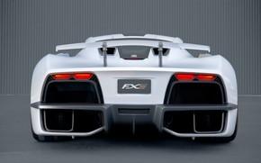 Picture supercar, rear view, Aria, hypercar, 2019, FXE
