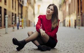 Picture girl, street, Berta Escudero