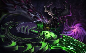 Picture The game, Dark, Magic, Brush, Weapons, WOW, Fantasy, Art, Art, Fiction, Shadow, WarCraft, Illustration, Character, …