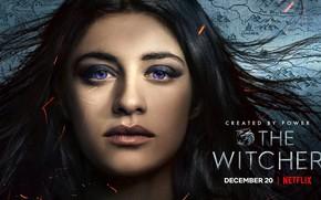 Picture the witcher, the series, the Witcher, the enchantress, netflix, , Jennifer, yennefer, yennifer, Anya calatra