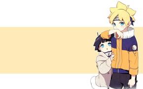 Picture children, anime, art, Naruto, Boruto