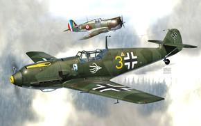 Picture JG51, Emil, Messerschmitt Bf 109, Combat aircraft, Bf. 109E