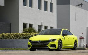 Picture Volkswagen, front view, 2018, Vossen, R-Line, Arteon, Highlight Concept
