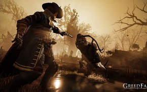 Picture trees, weapons, the game, hat, male, game, action, Computer game, GreedFall, Greed Fall