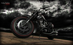 Picture the sky, clouds, design, transport, Harley-Davidson Night Rod Special