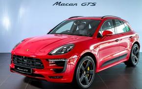 Picture car, machine, Porsche, red, red car, crossover, Macan, sports car, Macan GTS, Porsche Macan GTS