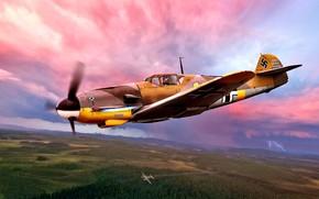 "Picture Germany, Messerschmitt, WWII, Bf-109F, Bf.109F-4, JG5, ""The Arctic ocean"", Hans Döberich"