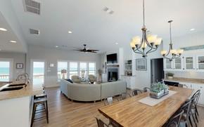 Picture Villa, interior, kitchen, dining room, gostinaya