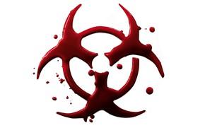 Picture Red, Minimalism, White, Blood, Biohazard