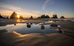 Picture Sunset, Sea, Tide