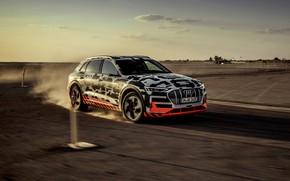 Picture Audi, speed, dust, 2018, E-Tron Prototype