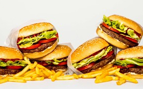 Picture food, a bunch, burgers