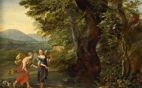Picture oil, picture, mythology, 1690, Tobias and the angel, Eglon Hendrick van der Neer, Eglon Hendrik …