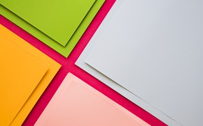 Picture green, geometry, design, yellow, pink, Colorful, papers, material