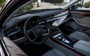 Picture Audi, interior, sedan, salon, Audi A8, Audi S8, 2020, 2019, V8 Biturbo
