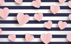 Picture line, background, holiday, hearts, Valentine's day, postcard