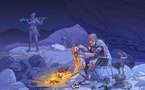 Picture Sci-Fi, Illustration, Cyberpunk, People, Art, Wire, Cyberpunk, Robot, Technician, Style, Art, Fantasy, Dmitry Kalinichenko, by …